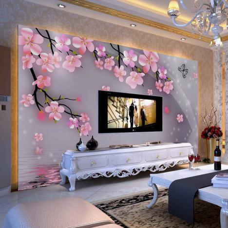 家乐美大型壁画影视墙壁纸客厅卧室欧式浪漫热卖3d效