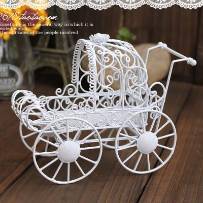 公主婴儿车欧式铁艺首饰架复古饰品展示架拍