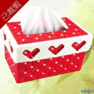 【图】网友推荐单品:立体绣长方形纸巾盒玫红色桃形剪