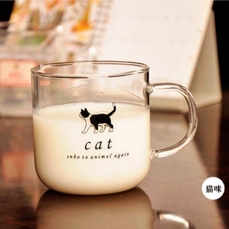 【图】网友推荐单品:动物图腾玻璃杯/牛奶杯/卡通杯