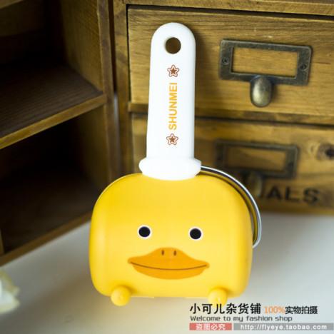 可爱卡通小鸭子造型粘尘器