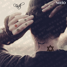 neeio纹妆 神圣信仰之六芒星 超多图 颈手耳后 纹身贴纸 防水