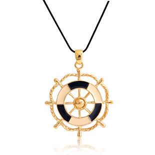 特价包邮 韩国进口lucia正品时尚可爱海军风船舵长项链毛衣链饰品