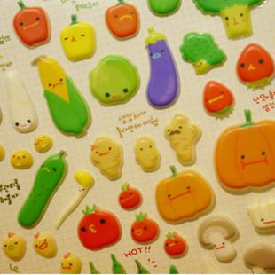 蔬菜海绵纸手工贴画