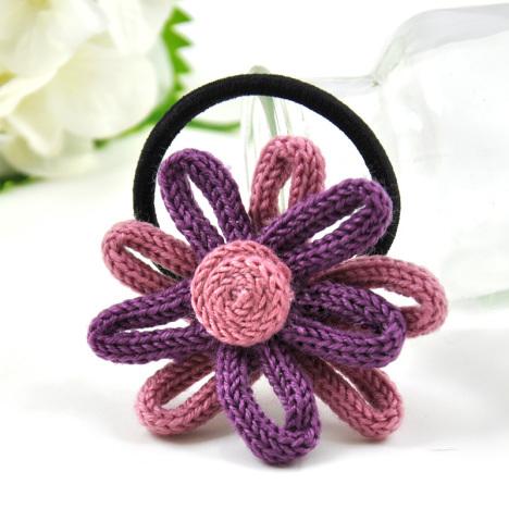 5 特惠 小清新荧光撞色收编花朵 可爱头绳发圈皮筋 4.