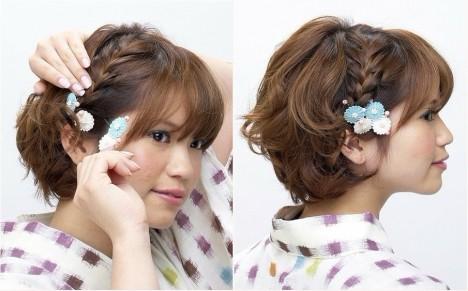 简单韩式新娘发型盘头步骤跟解图