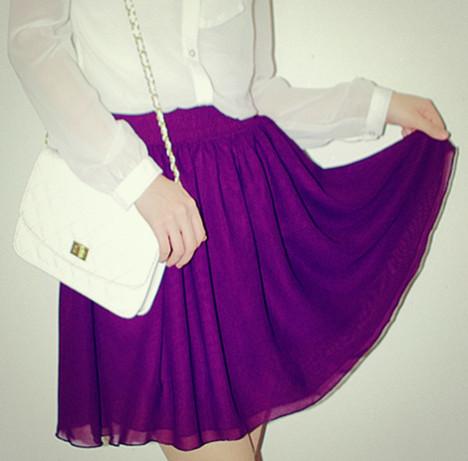 紫色包臀裙搭配图片