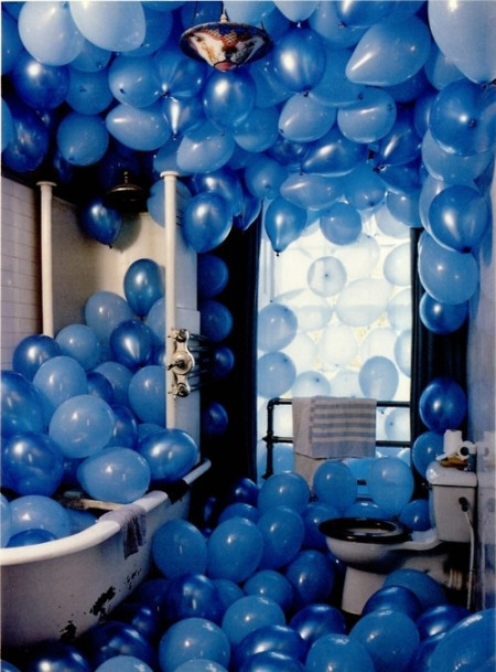 蓝色的气球