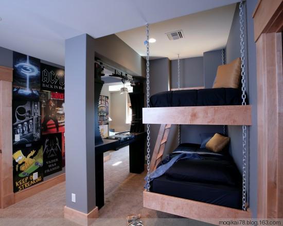 卧室高低床风格装修效果图 家居方案推荐