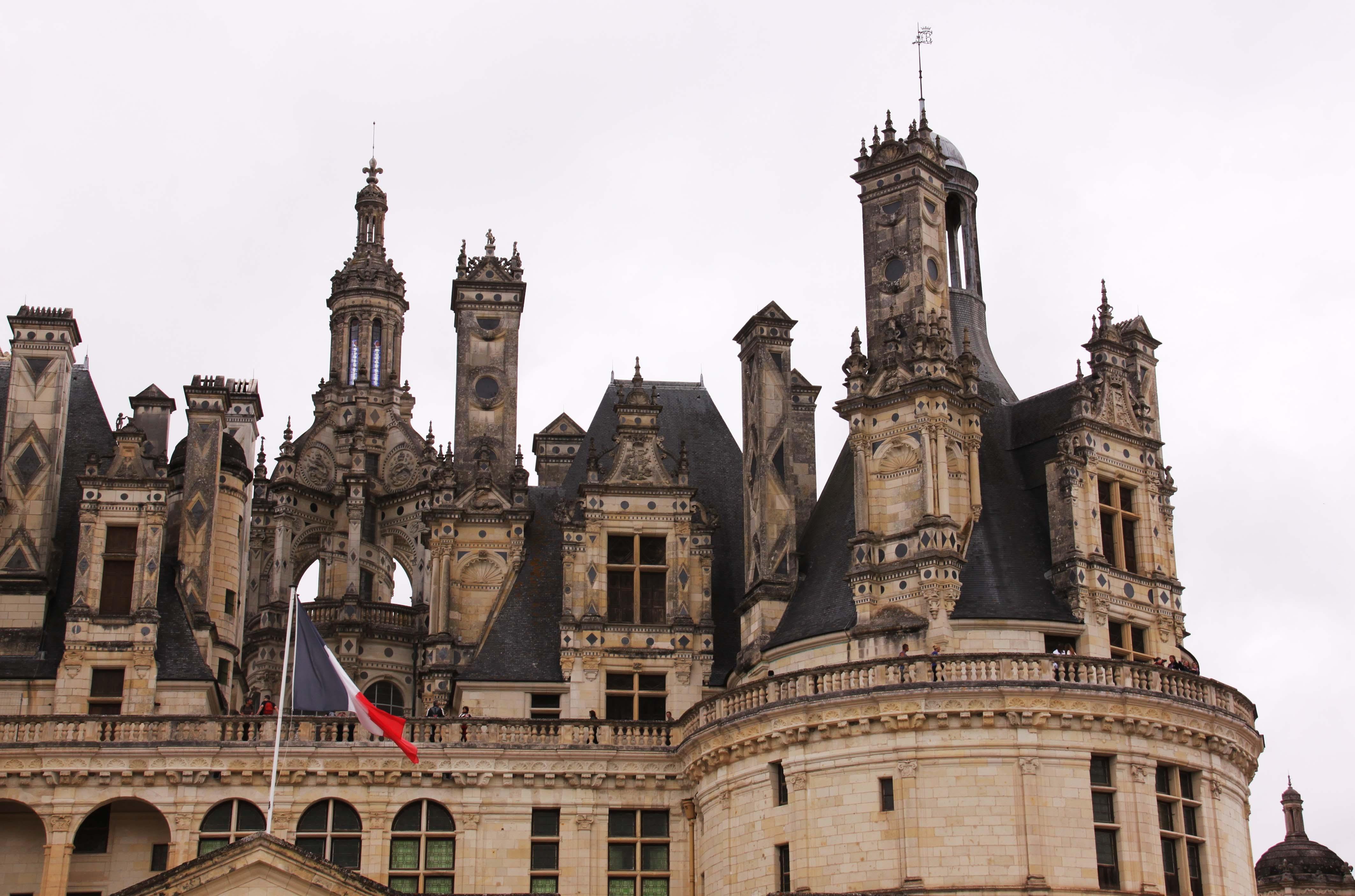 欧式城堡黑白装饰画
