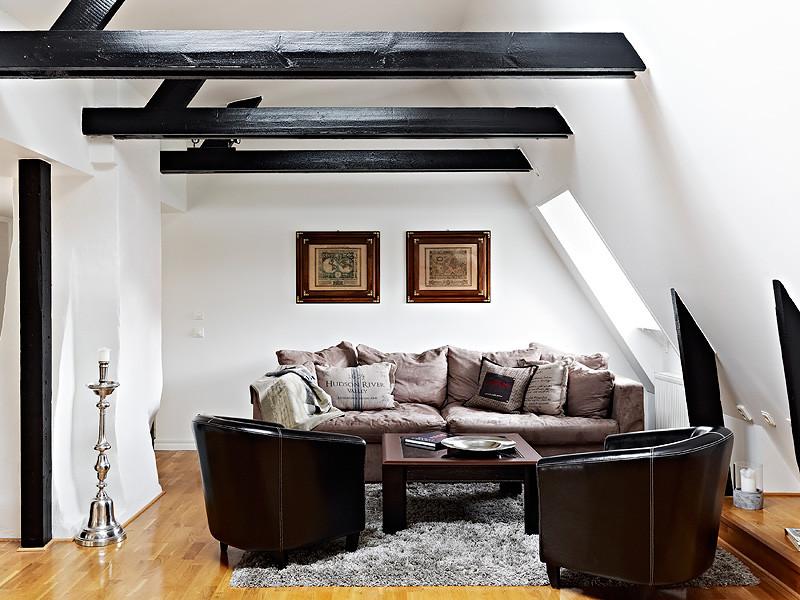 黑白 客厅风格装修效果图 家居方案推荐