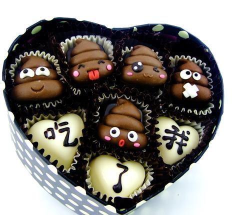哈哈~便便形状的巧克力