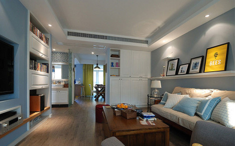 单身公寓地中海风格装修图片