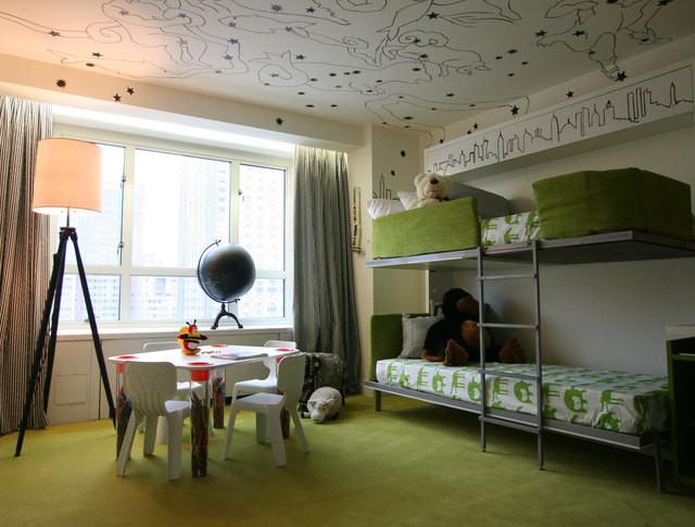 高低床风格装修效果图 家居方案推荐