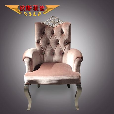 欧式新古典单人沙发椅休闲
