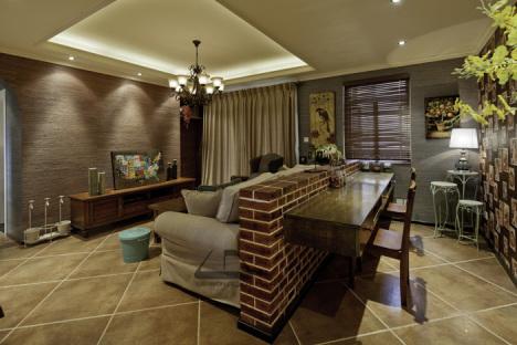 公寓装修 一居室装修 90平米装修 富裕型装修 混搭风格 欧式