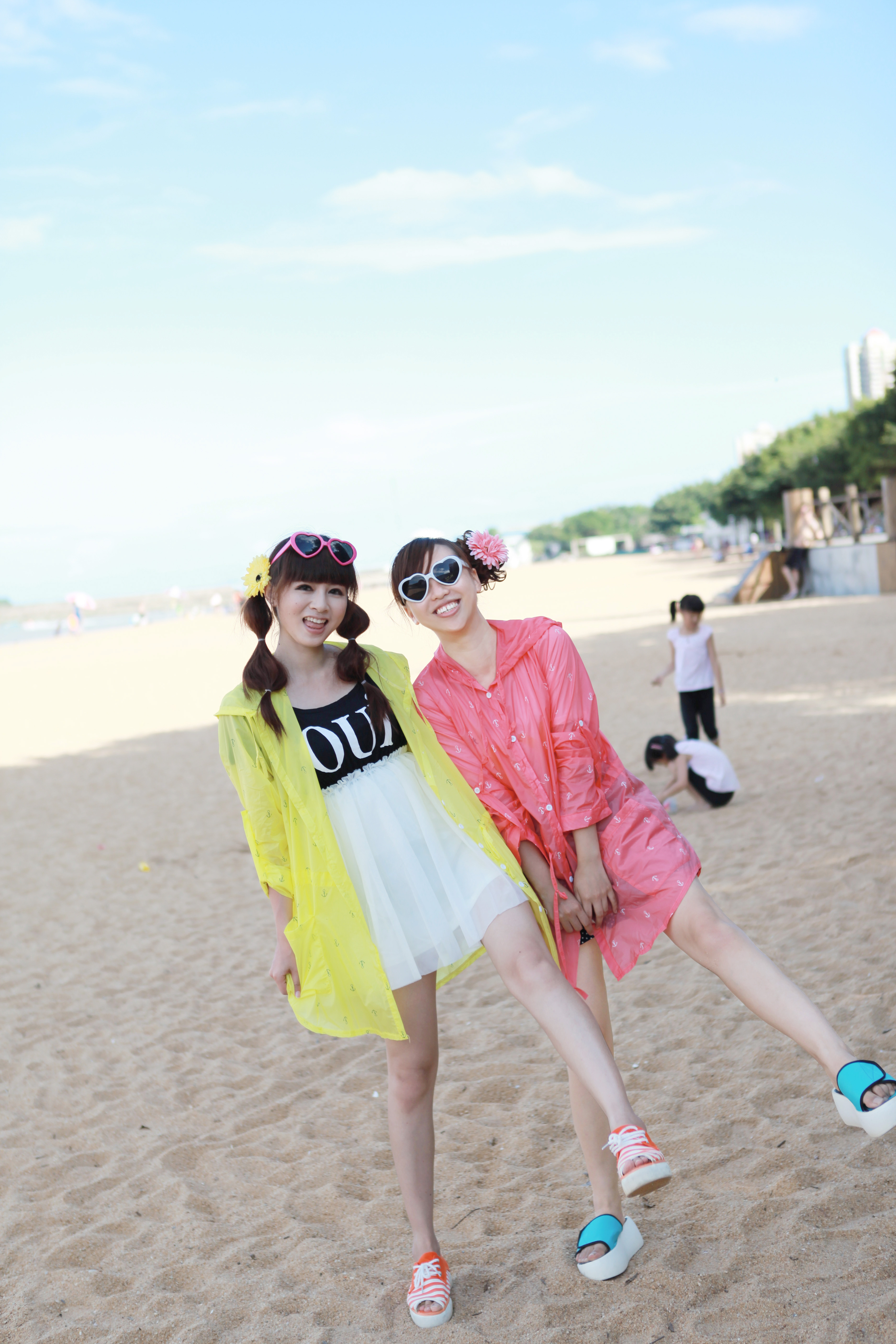 海滩穿衣搭配图片欣赏